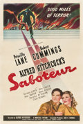 "Movie Posters:Hitchcock, Saboteur (Universal, 1942). One Sheet (27"" X 41"") Style C.. ..."
