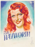 "Movie Posters:Miscellaneous, Rita Hayworth Personality Poster (Columbia, 1940s). French Affiche(23.5"" X 31"").. ..."