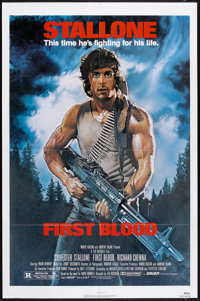 "First Blood (Orion, 1982). One Sheet (27"" X 41""). Action"