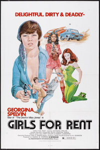 """Girls For Rent (Independent International Pictures, 1974). One Sheet (27"""" X 41""""). Sexploitation"""