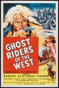 "Ghost Riders of the West (Republic, R-1954). One Sheet (27"" X 41""). Serial"