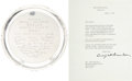 Golf Collectibles:Autographs, 1953 Dwight D. Eisenhower Signed Letter to Gene Sarazen....