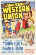 "Movie Posters:Western, Western Union (20th Century Fox, 1941). One Sheet (27"" X 41"") StyleA.. ..."