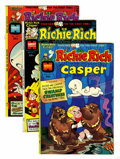 Bronze Age (1970-1979):Cartoon Character, Richie Rich and Casper File Copies Group (Harvey, 1974-82)Condition: Average NM-.... (Total: 45 Comic Books)