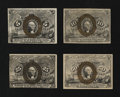 Fractional Currency:Second Issue, Second Issue Surcharge Denomination Set.. ... (Total: 4 notes)