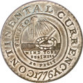 Colonials, 1776 $1 Continental Dollar, CURRENCY, Pewter, EG FECIT MS64 PCGS.CAC....