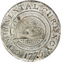 Colonials, 1776 $1 Continental Dollar, CURENCY, Pewter MS64 PCGS. CAC....