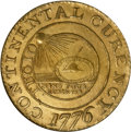 Colonials, 1776 $1 Continental Dollar, CURENCY, Brass MS63 NGC. CAC....