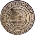 Colonials, 1776 $1 Continental Dollar, CURRENCY, Pewter, Ornamented Date XF45PCGS. CAC. ...