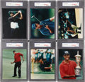 Golf Cards:General, 1997 Topps Genuine Issue Tiger Woods Set of 6. ...