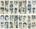 Autographs:Checks, 1936 Exhibit Baseball Four-In-One Group of (8). ...