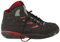 Basketball Collectibles:Others, Dikembe Mutombo Game Used & Signed Shoe. ...