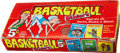 "Basketball Collectibles:Others, Rare 1960 Fleer Test ""Basketball Stickers"" 5-Cent Wax Pack Display Box...."