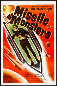 """Missile Monsters (Republic, 1958). One Sheet (27"""" X 41"""") Flat-Folded. Science Fiction"""
