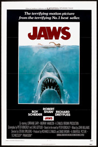 "Jaws (Universal, 1975). One Sheet (27"" X 41"") Flat Folded. Horror"