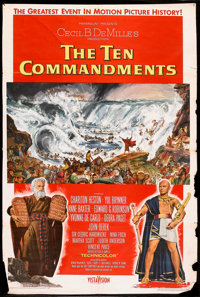 "The Ten Commandments (Paramount, 1956). One Sheet (27"" X 41"") Style A. Historical Drama"