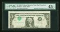 Error Notes:Inverted Third Printings, Fr. 1913-L $1 1985 Federal Reserve Note. PMG Choice Extremely Fine45 EPQ.. ...