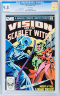 Modern Age (1980-Present):Superhero, Vision and the Scarlet Witch #1 (Marvel, 1982) CGC NM/MT 9.8 White pages....
