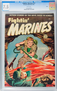 Fightin' Marines #11 Salida pedigree (St. John, 1954) CGC VF- 7.5 White pages