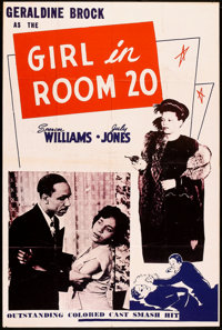 "The Girl in Room 20 (Astor Pictures, 1946). One Sheet (27"" X 41""). Black Films"