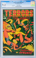 Golden Age (1938-1955):Horror, Terrors of the Jungle #20 (Star, 1952) CGC NM- 9.2 Off-whitepages....