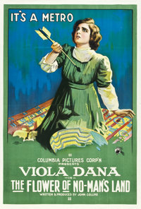 "The Flower of No Man's Land (Columbia, 1916). One Sheet (27"" X 41"")"