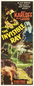 "Movie Posters:Horror, The Invisible Ray (Realart, R-1948). Insert (14"" X 36"").. ..."