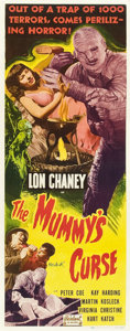 "Movie Posters:Horror, The Mummy's Curse (Realart, R-1951). Insert (14"" X 36"").. ..."