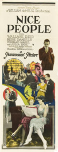 "Movie Posters:Comedy, Nice People (Paramount, 1922). Insert (14"" X 36"").. ..."