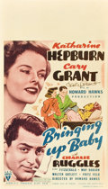 "Movie Posters:Comedy, Bringing Up Baby (RKO, 1938). Autographed Midget Window Card (8"" X14"").. ..."