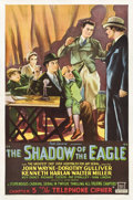 "Movie Posters:Serial, The Shadow of the Eagle (Mascot, 1932). One Sheet (27"" X 41"")Chapter 5 -- ""The Telephone Cipher."". ..."