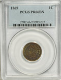 Proof Indian Cents, 1865 1C PR66 Brown PCGS....