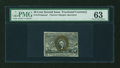 Fractional Currency:Second Issue, Fr. 1314SP 50c Second Issue Narrow Margin Face PMG Choice Uncirculated 63....