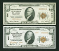 National Bank Notes:Pennsylvania, Two Reading, Pennsylvania $10 1929 Notes.. ... (Total: 2 notes)