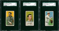 Baseball Cards:Lots, 1909-11 T206 SGC Authentic Group Lot of 3.... (Total: 3 cards)
