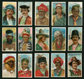 "Non-Sport Cards:Sets, 1910 T113 ""Types of Nations"" Near Set (48/50) Plus ""Recruit"" SlideTray Pack. ..."