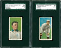 Baseball Cards:Lots, 1909-11 T206 SGC 30 Good 2 Pair.... (Total: 2 cards)