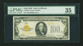 Small Size:Gold Certificates, Fr. 2405 $100 1928 Gold Certificate. PMG Choice Very Fine 35.. ...