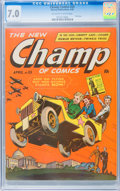 Golden Age (1938-1955):War, Champ Comics #25 (Harvey, 1943) CGC FN/VF 7.0 Off-white to whitepages....