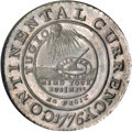 Colonials, 1776 $1 Continental Dollar, CURRENCY, Pewter, EG FECIT MS63 NGC....