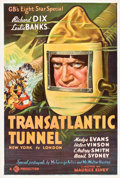 "Movie Posters:Science Fiction, Transatlantic Tunnel (Gaumont, 1935). One Sheet (27"" X 41"").. ..."