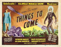 "Movie Posters:Science Fiction, Things to Come (Film Classics, R-1947). Title Lobby Card (11"" X14"").. ..."