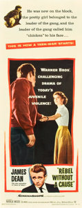 """Movie Posters:Drama, Rebel without a Cause (Warner Brothers, 1955). Insert (14"""" X 36"""").. ..."""