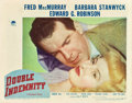 "Movie Posters:Film Noir, Double Indemnity (Paramount, 1944). Lobby Card (11"" X 14"").. ..."