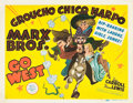"Movie Posters:Comedy, Go West (MGM, 1940). Title Lobby Card (11"" X 14"").. ..."