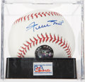 Autographs:Baseballs, Willie Mays Single Signed Baseball PSA Mint 9. ...