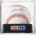 Autographs:Baseballs, Jim Rice Single Signed Baseball PSA Mint 9. ...