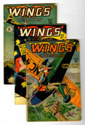 Golden Age (1938-1955):War, Wings Comics Group (Fiction House, 1946-53) Condition: AverageVG.... (Total: 5 Comic Books)