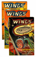 Golden Age (1938-1955):War, Wings Comics Group (Fiction House, 1946-50) Condition: AverageVG+.... (Total: 5 Comic Books)