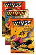Golden Age (1938-1955):War, Wings Comics Group (Fiction House, 1946-49) Condition: AverageFN-.... (Total: 6 Comic Books)